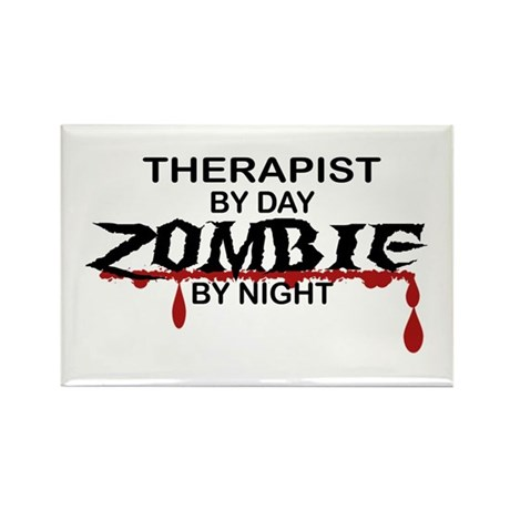 Therapist Zombie Rectangle Magnet (10 pack)