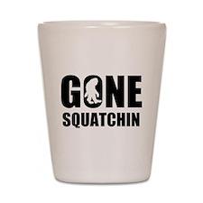 Gone sqautchin Shot Glass