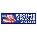 Regime Change 2008 bumper sticker