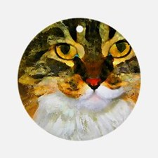 Kitty Close-Up Ornament (Round)