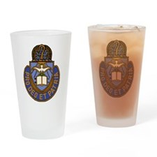 Chaplain Crest Drinking Glass