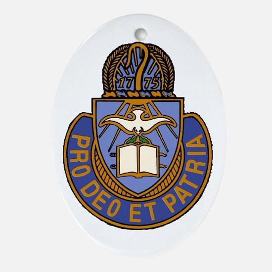 Chaplain Crest Ornament (Oval)