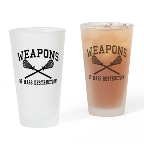 Lacrosse Weapons of Mass Destructions Drinking Gla