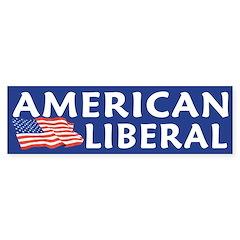 American Liberal Bumper Bumper Sticker
