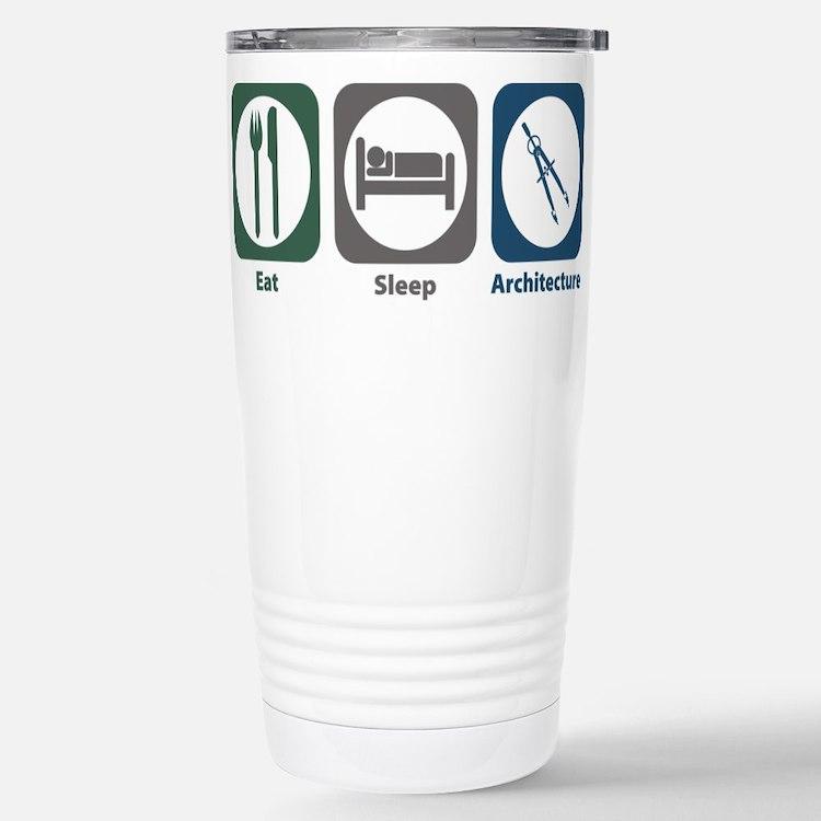 Cute Architecture Travel Mug