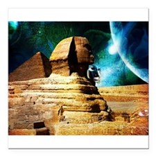 "Sphinx Square Car Magnet 3"" x 3"""