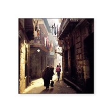 "Egyptian Streets Square Sticker 3"" x 3"""