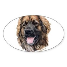 Leonberger Oval Decal