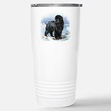 Cute Newfoundland dog Travel Mug