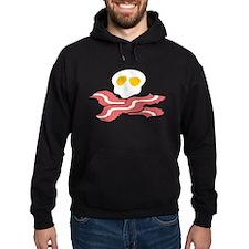 Bacon Eggs Skull Hoodie