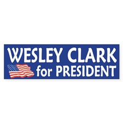 Wesley Clark for President bumper sticker