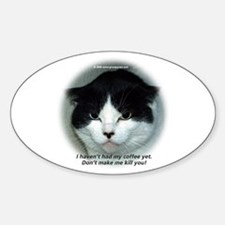 Grumpy Cats Oval Decal