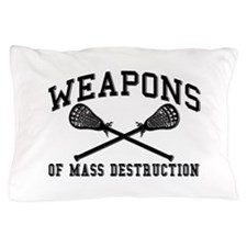 Lacrosse Weapons of Mass Destructions Pillow Case