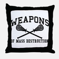 Lacrosse Weapons of Mass Destructions Throw Pillow