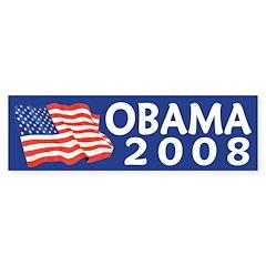 Barack Obama 2008 (flag bumper sticker)
