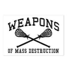 Lacrosse Weapons of Mass Destructions Postcards (P