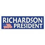 Richardson for President bumper sticker