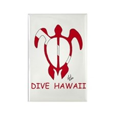 Hawaii Dive Rectangle Magnet