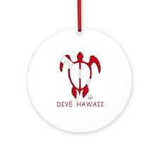 Hawaii Dive Ornament (Round)
