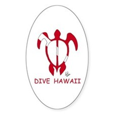 Hawaii Dive Oval Decal