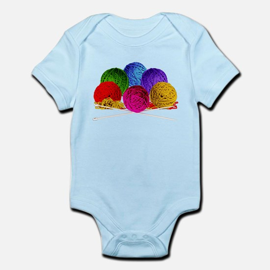 Great Balls of Bright Yarn! Infant Bodysuit