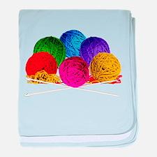 Great Balls of Bright Yarn! baby blanket
