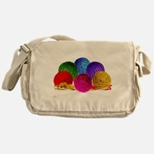 Great Balls of Bright Yarn! Messenger Bag