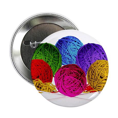 "Great Balls of Bright Yarn! 2.25"" Button"