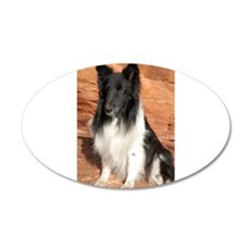 BLack and White Sheltie Wall Decal
