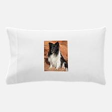 BLack and White Sheltie Pillow Case