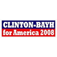 Clinton-Bayh 2008 (bumper sticker)