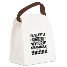 Silently Correcting Your Grammar Canvas Lunch Bag