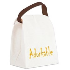 adorkable Canvas Lunch Bag