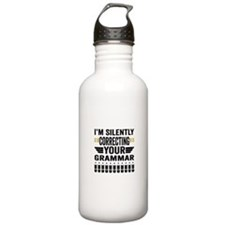 Silently Correcting Your Grammar Water Bottle