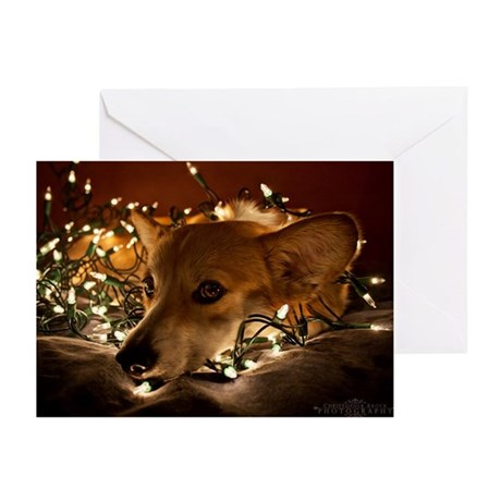 Corgi in Lights Greeting Cards (Pk of 10)