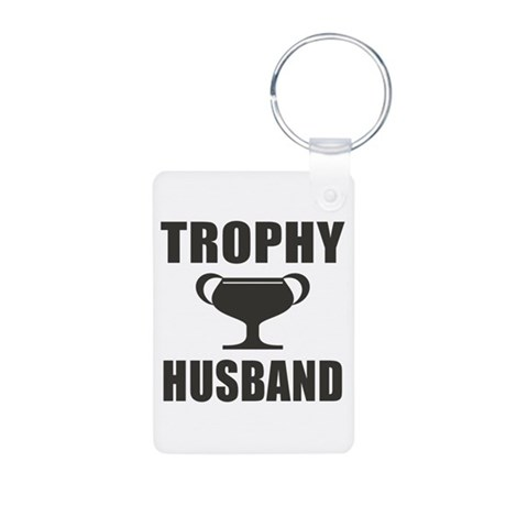 Trophy Husband Aluminum Photo Keychain