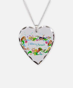Funny Colors Necklace Heart Charm