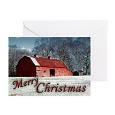 Red Barn Christmas Greeting Cards (Pk of 20)
