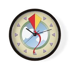 Diamond kite wall clock