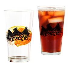 african village Drinking Glass