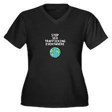 tshirt1 Women's Plus Size V-Neck Dark T-Shirt