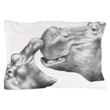 Black andoff white african tribal Pillow Cases