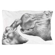 Hippo and Baby Pillow Case