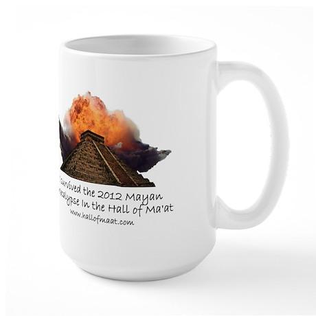 I survived the 2012 Mayan Apocalypse Large Mug