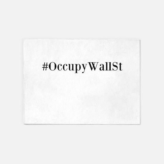 Occupy Wall St. 5'x7'Area Rug