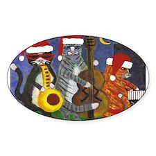 Jazz Cats Christmas Santas Decal