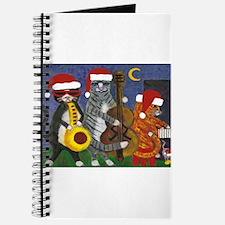 Jazz Cats Christmas Santas Journal