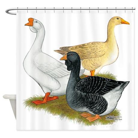 Goose Trio Shower Curtain
