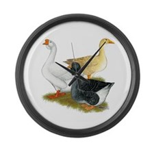 Goose Trio Large Wall Clock