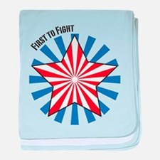 First to Fight baby blanket